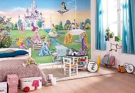 Komar Disney Princess Castle Wallpaper Mural Vinyl Multi Colour 8 Piece