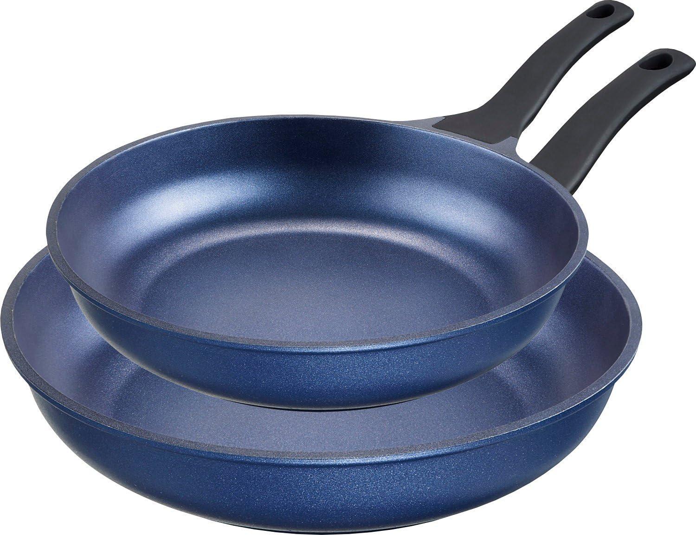 IMPERA Vencerás 2 Teiliges Juego de sartenes de Aluminio 24/28 cm, Color Azul, de inducción: Amazon.es: Hogar