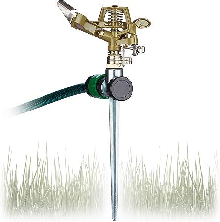 Rasensprenger mit Erdspieß Kreisregner Sektorenregner Gartensprenger Sprinkler