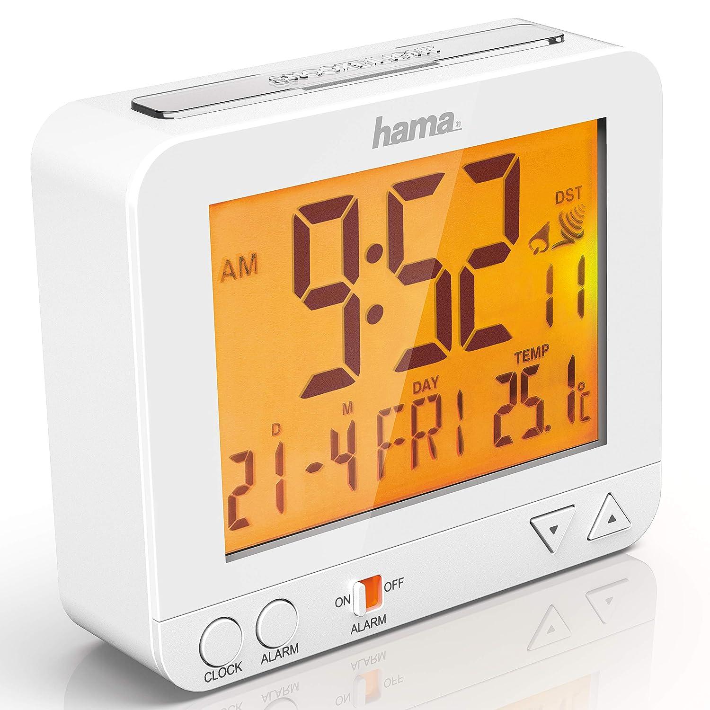 Hama - Orologio/Sveglia radiocontrollato RC-550, Bianco 00136296