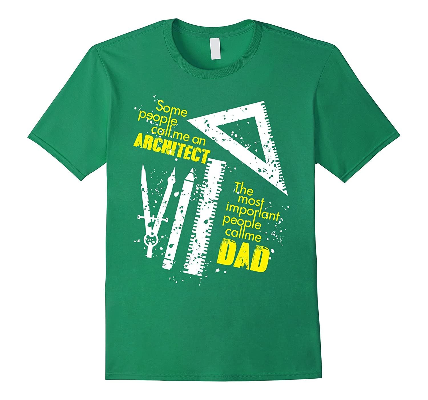 Mens The Most Important People Call Me Dad - Architect T-Shirt-TH