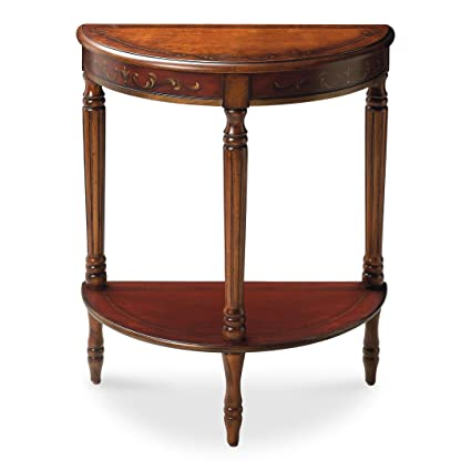 Amazing Butler Specialty Company 889176 Bellini Hand Painted Demilune Console Table Cherry And Red Home Interior And Landscaping Dextoversignezvosmurscom