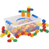 ECR4Kids Gears Galore Math Manipulatives Building Kit, Educational Sensory Learning Toys for Children (160-Piece Set)