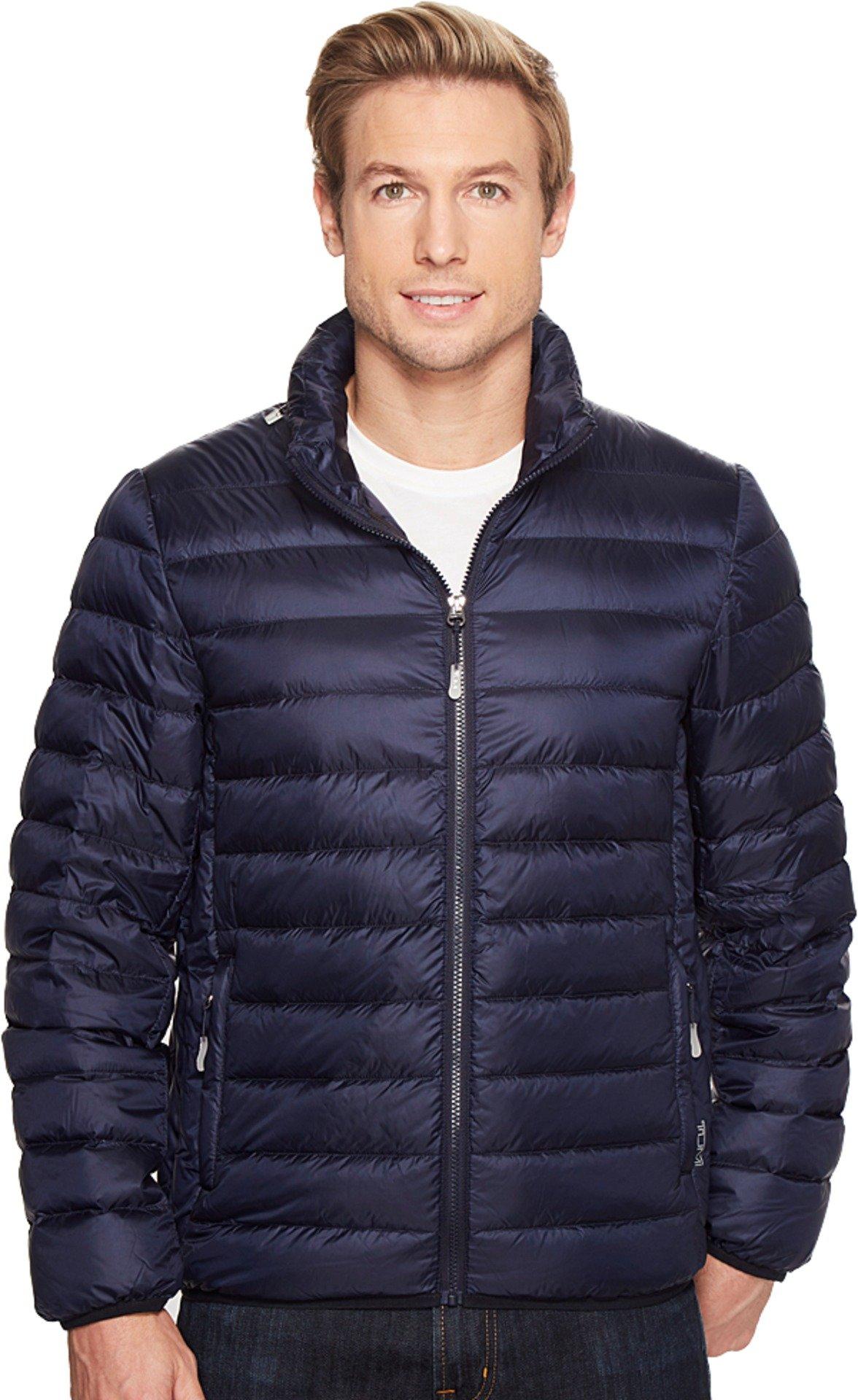 Tumi Men's Patrol Packable Travel Puffer Jacket Navy Outerwear
