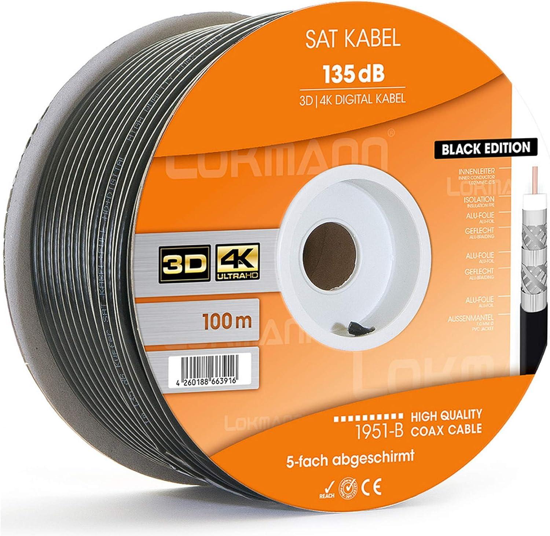 100m Cavo Coassiale 8k Cavo SAT /> 135db digitale antenna cavo TV coassiale UHD 4k