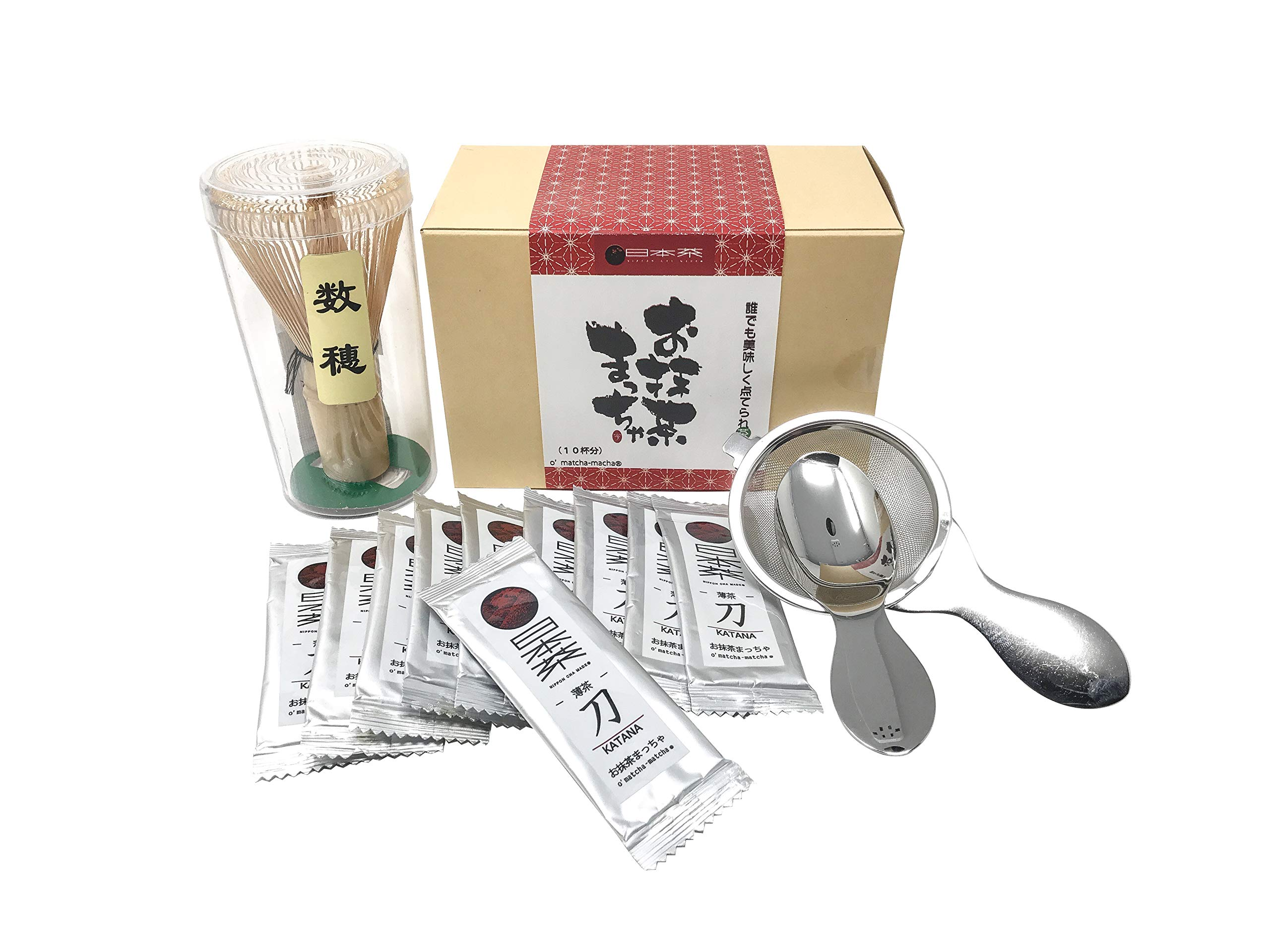 Nippon Cha - O'Matcha Matcha Set - Starter Matcha Kit - Ceremonial Matcha Tea - Matcha Whisk (Chasen) - Tea Spoon & Sifter, The Perfect Set to Prepare a Traditional Cup of Matcha - Made in Japan by NIPPON CHA MADE