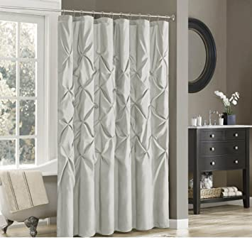 1 Piece 72quotx72quot Pintuck Puckered Theme Shower Curtain All Over High