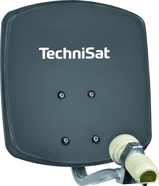 TechniSat DigiDish 33 - Antena de TV con soporte y LNB universal, gris