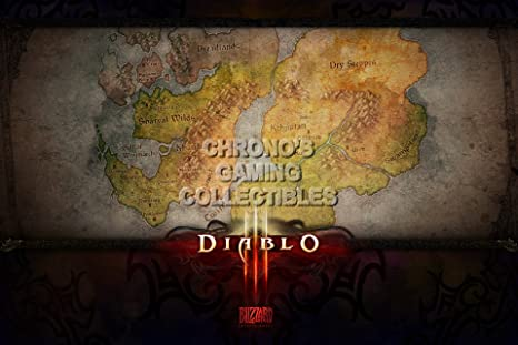 CGC enorme cartel - Diablo III PS3 PS4 XBOX 360 ONE - - mapa ...