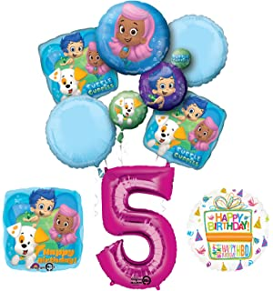 Bubble Guppies 5th Birthday Party Supplies And Balloon Bouquet Decorations