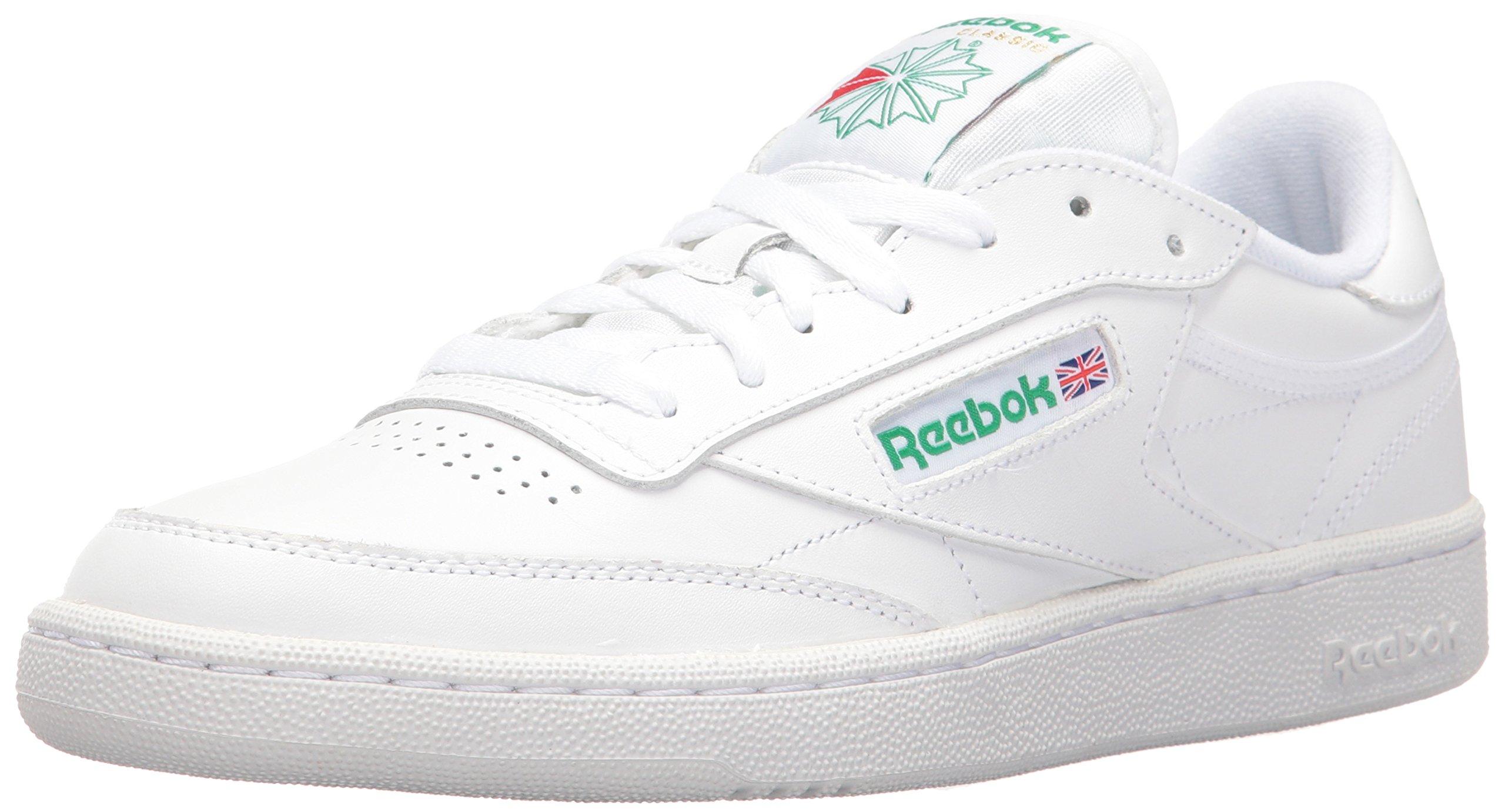 Reebok Men's Club C 85 Walking Shoe, White/Green, 8.5 M US by Reebok
