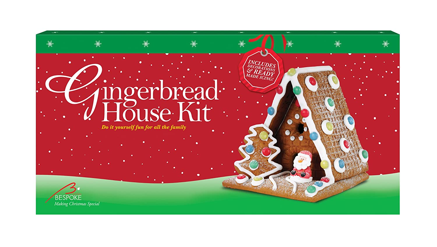 Diy gingerbread house kit with sugar figures sweets and ready made diy gingerbread house kit with sugar figures sweets and ready made icing 650 g amazon grocery solutioingenieria Image collections