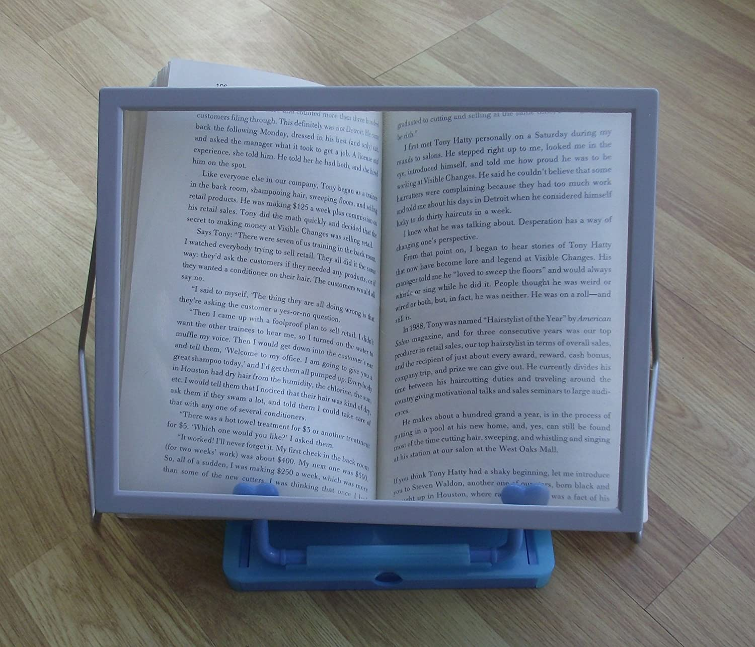 sheet magnifier stand and book stand a4 sheet magnifier and book