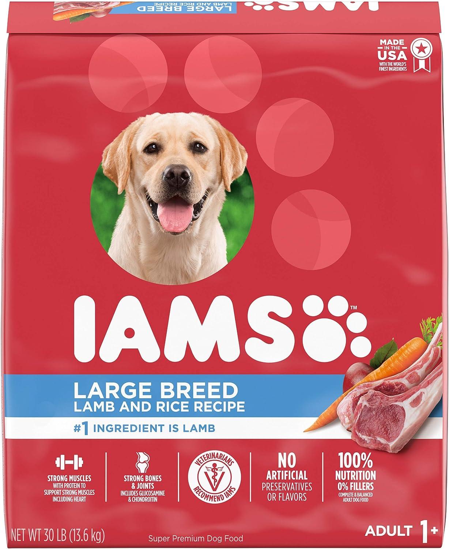 IAMS Large Breed Adult Dry Dog Food Lamb & Rice Recipe, 30 lb. Bag