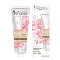Mademoiselle Provence Natural Shea Butter Organic Rose Hand Cream with Peony Extracts, Moisturizing and Smoothing French Hand Lotion , Hydrating Vegan Hand Care, Cruelty Free 2.5 fl oz