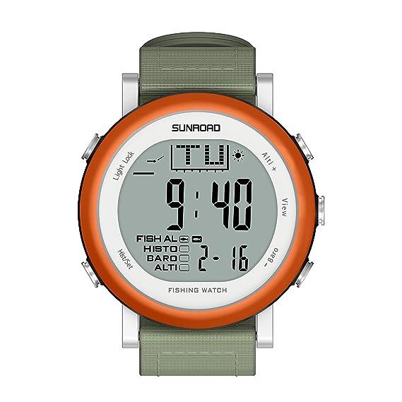 Sunroad fr721 a Hombres – Reloj para la práctica de deportes de pesca digital Cronómetro/