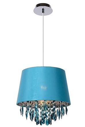 Lucide 78368/30/37 Dolti - Lámpara de techo colgante, fabricada en metacrilato, E27, 30 cm de diámetro, 33 cm de altura, color turquesa