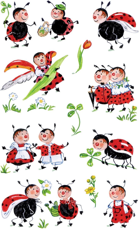 Autocollants d/écoratifs Coccinelle 39 Aufkleber color/é Avery Zweckform/ 54103