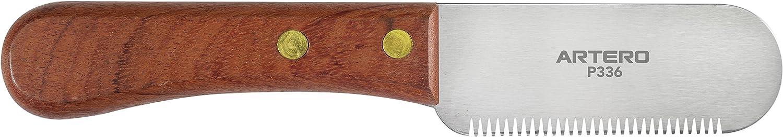 cuchilla con mango de mader para quitar pelo duro artero p336