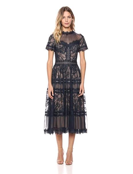 Tadashi Shoji Womens Ss Lace Midi Dress
