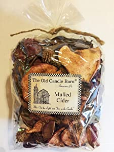 Old Candle Barn Mulled Cider Potpourri Large Bag - Perfect Fall Decoration or Bowl Filler - Beautiful Autumn Apple Scent