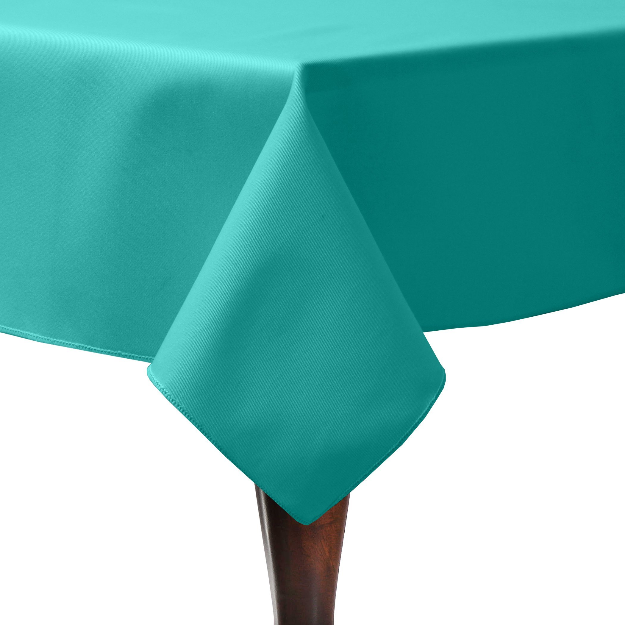 Ultimate Textile (3 Pack) Poly-cotton Twill 60 x 90-Inch Rectangular Tablecloth - for Restaurant and Catering, Hotel or Home Dining use, Jade