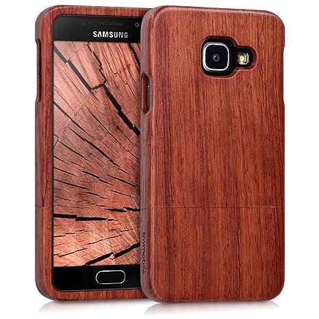 kwmobile Funda para Samsung Galaxy A3 (2016) - Carcasa Protectora de [Madera] para móvil - Case [Duro] en [marrón Oscuro]
