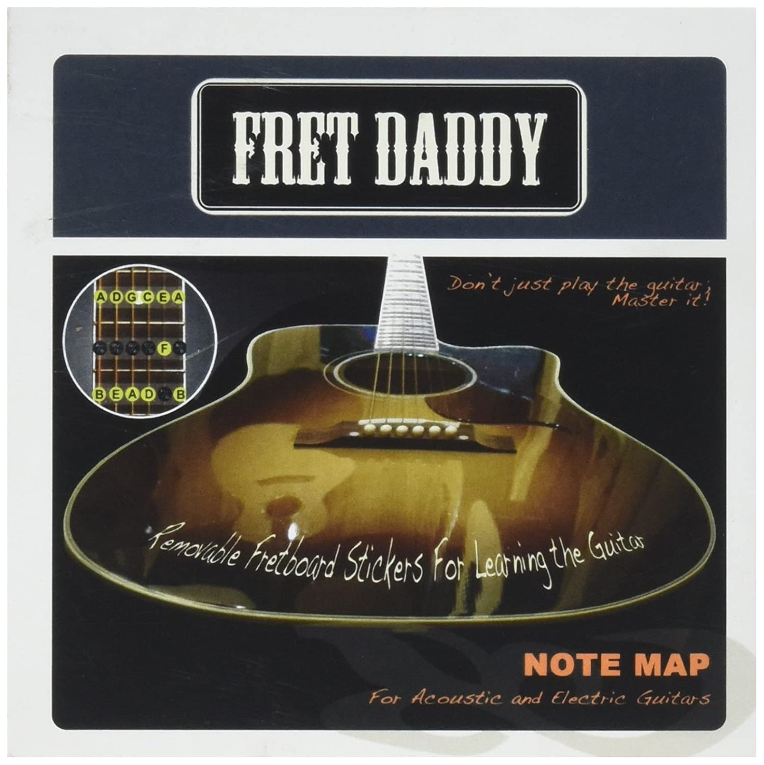 Fret Daddy The Fretboard Note Map for Electric/Acoustic Guitar EANM-00001
