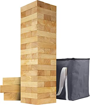 Giant Wooden Toppling Tower (Stacks to 5+ Feet)