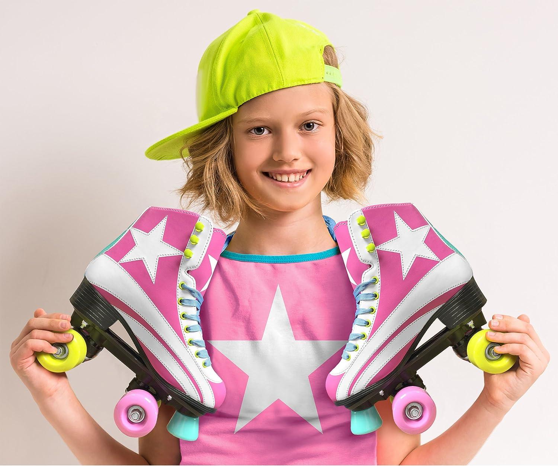 Size 2 Stamp JQ200035/Roller Skates for Girls in Pink