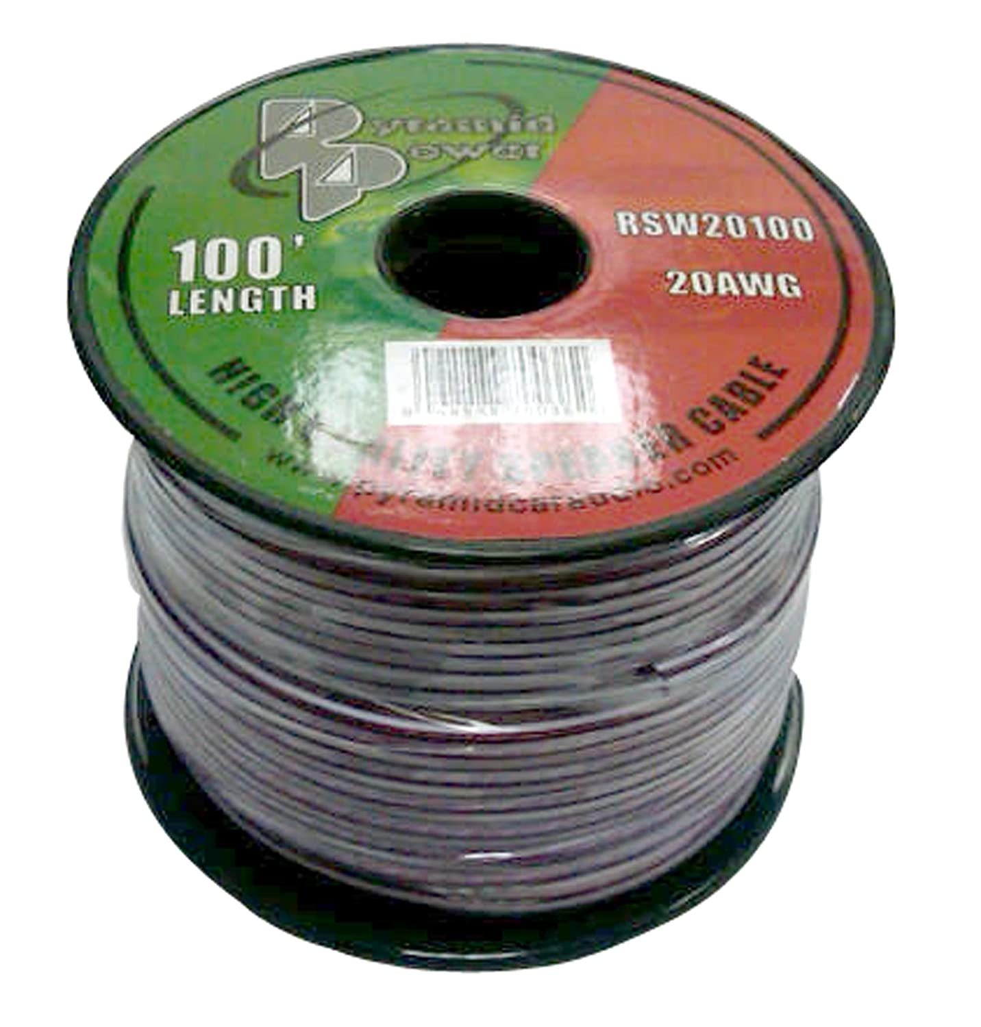 Pyramid RSW20100 20 Gauge 50 Feet Spool of High Quality Speaker Zip Wire Sound Around