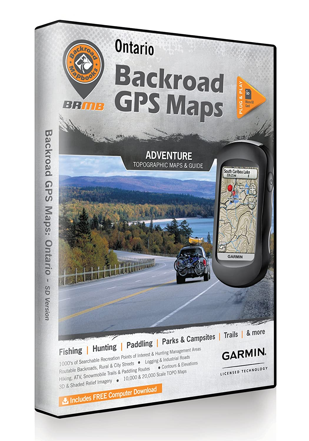 Amazon com: Ontario Backroad GPS Maps