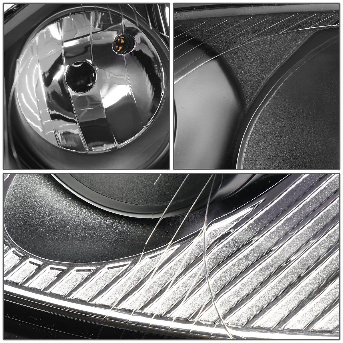 VW Golf / GTI / Jetta / Rabbit Pair of Headlight (Black Housing Clear Corner) by Auto Dynasty (Image #3)