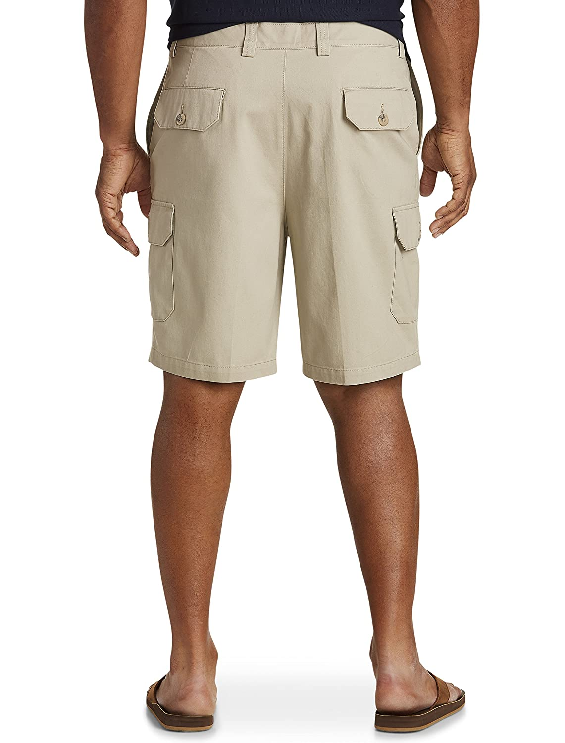c953d7747e ... Harbor Bay by DXL Big and Tall Continuous Comfort Twill Cargo Shorts ...