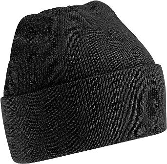 Beechfield Winter Hat Flap Long Beanie Hat Knitted Winter Knitted Wool