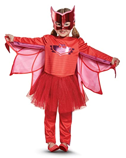 Owlette Prestige Tutu Pj Masks Costume, Red, Large (4-6X)