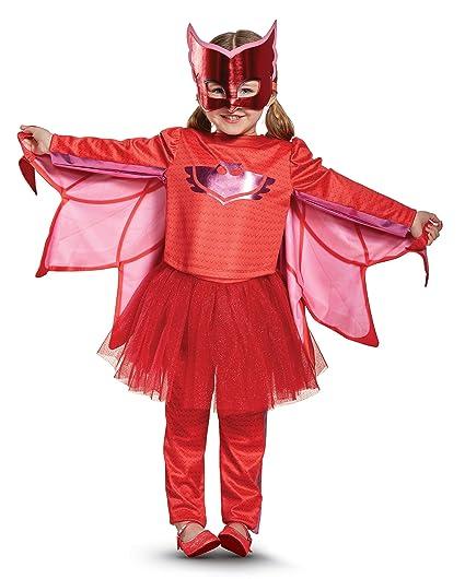 Owlette Prestige Tutu Pj Masks Costume, Red, Large (4-6X)