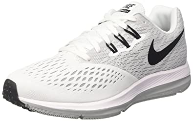 Nike Women's Air Zoom Winflo 4 Running Shoe, White/Black-Wolf Grey 6