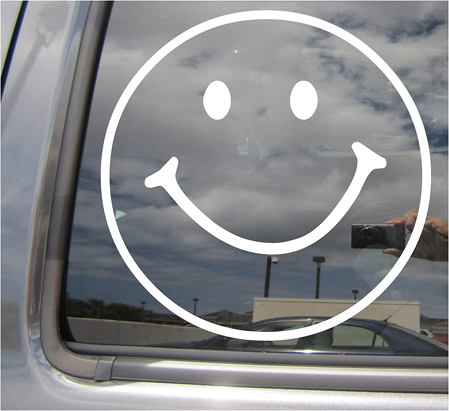 Right Now Decals - Smiley Happy Face Emoticon - Cars Trucks Moped Helmet Hard Hat Auto Automotive Craft Laptop Vinyl Decal Window Wall Sticker 10264
