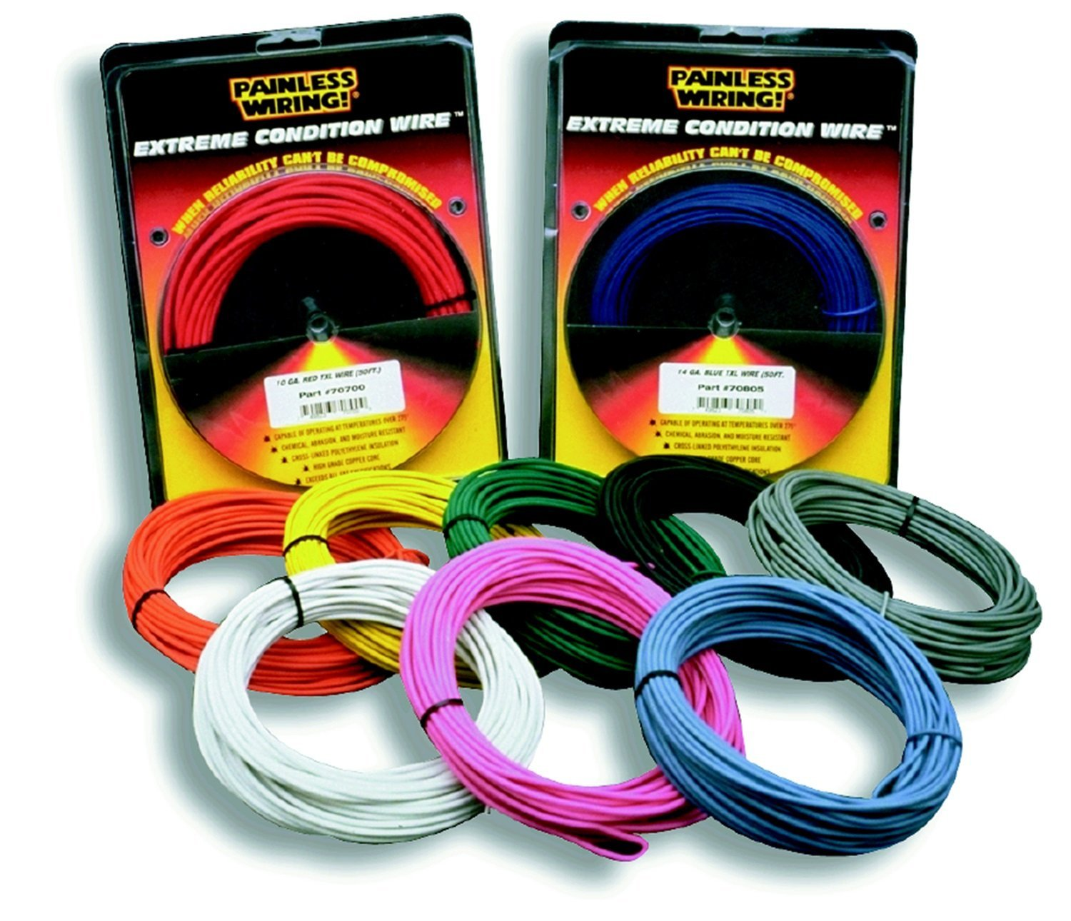 812pqBzSwRL._SL1500_ amazon com painless 71807 14 gauge gray txl wire (25 ft ) automotive