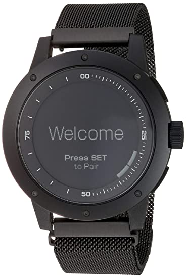 MATRIX Industries - Smartwatch (Resistente al Agua 50 m, Funciona con Calor Corporal), no necesita recargar, con PowerWatch App - Color Negro