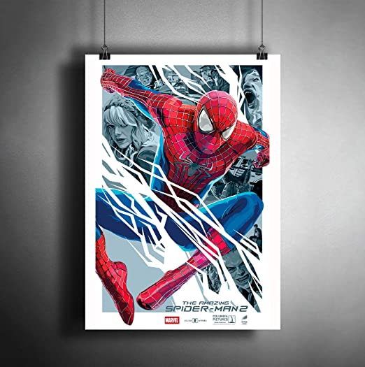 AMAZING SPIDERMAN  ART PRINT  FILM COLLECTIBLE  MOVIE ORIGINAL  A3 painting