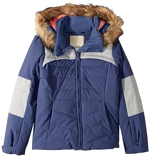 e241557f5 Roxy Bamba Girl Snow Jacket Insulated Crown Blue  Amazon.co.uk  Clothing