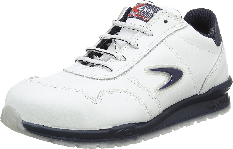 Cofra 40-78500004-46 - Zapatos de seguridad S3 Src Nuvolari Running calzado deportivo, de cuero blanco, tamaño 46