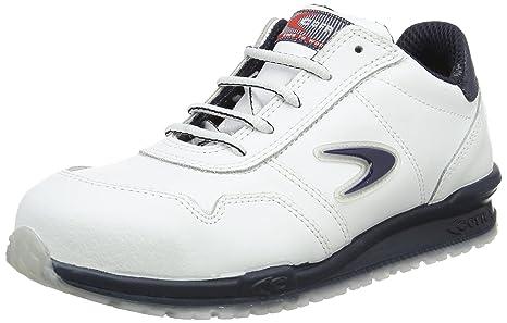 Cofra, 40 78500004 39, Scarpe di sicurezza da corsa scarpe da ginnastica Nuvolari S3 SRC, in pelle bianca, taglia 39