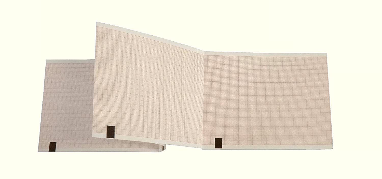 Liasse de papier thermique à pliage accordéon pour ECG compatible avec Fukuda OP-222TE La Tecnocarta Srl ZI37110020140KO