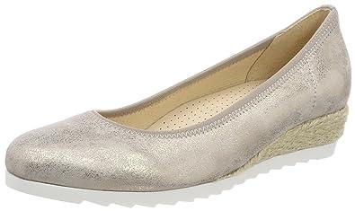 Gabor Shoes Comfort Sport, Ballerines Femme, Bleu (Cielo Jute), 42 EU