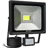 MEIKEE 50W LED Motion Sensor Flood Light, IP66 Waterproof Outdoor LED PIR Security Light, 150W High Pressure Sodium Equivalent, 5000lm High-Brightness, Daylight White[Energy Class A++]