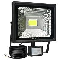 MEIKEE Projecteur LED avec détecteur de mouvement, 50W 5000 LM Luminaire extérieur IP 65 étanche éclairage extérieur idéal pour jardin, piscine, pont, escalier, couloir, etc