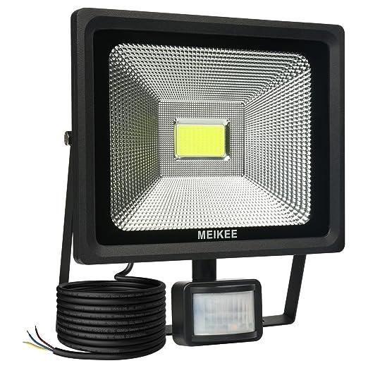 Projecteur A Detecteur De Mouvement Meikee 50w 5000lm 6000k Lampe